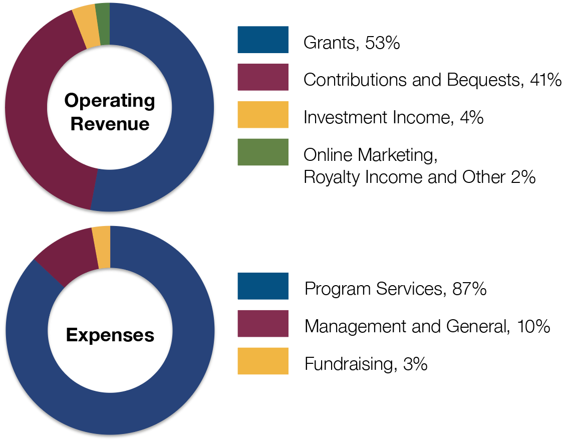 2018 Revenue and Expense Charts
