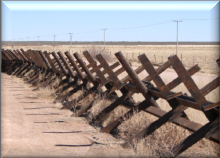 anti-vehicle border fencing