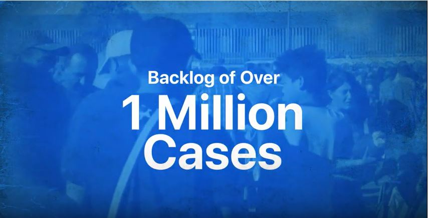 Image box with the words 1 million cases