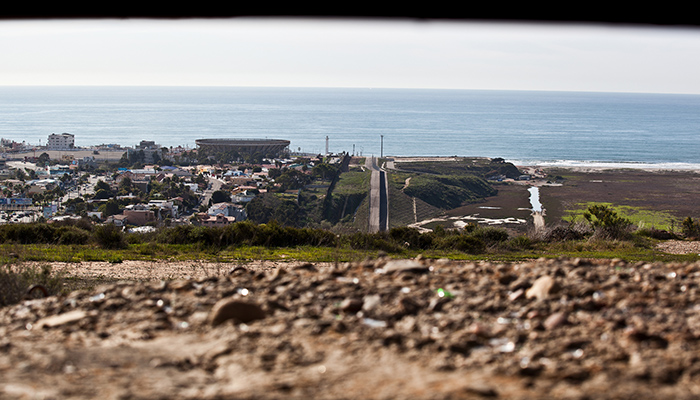 Photo of US/Mexico Border near ocean